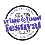 Drink. Eat. Relax. Wine & Food Festival | Baltimore, MD Logo